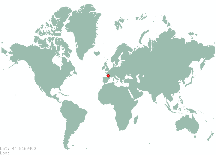 Bihac in world map